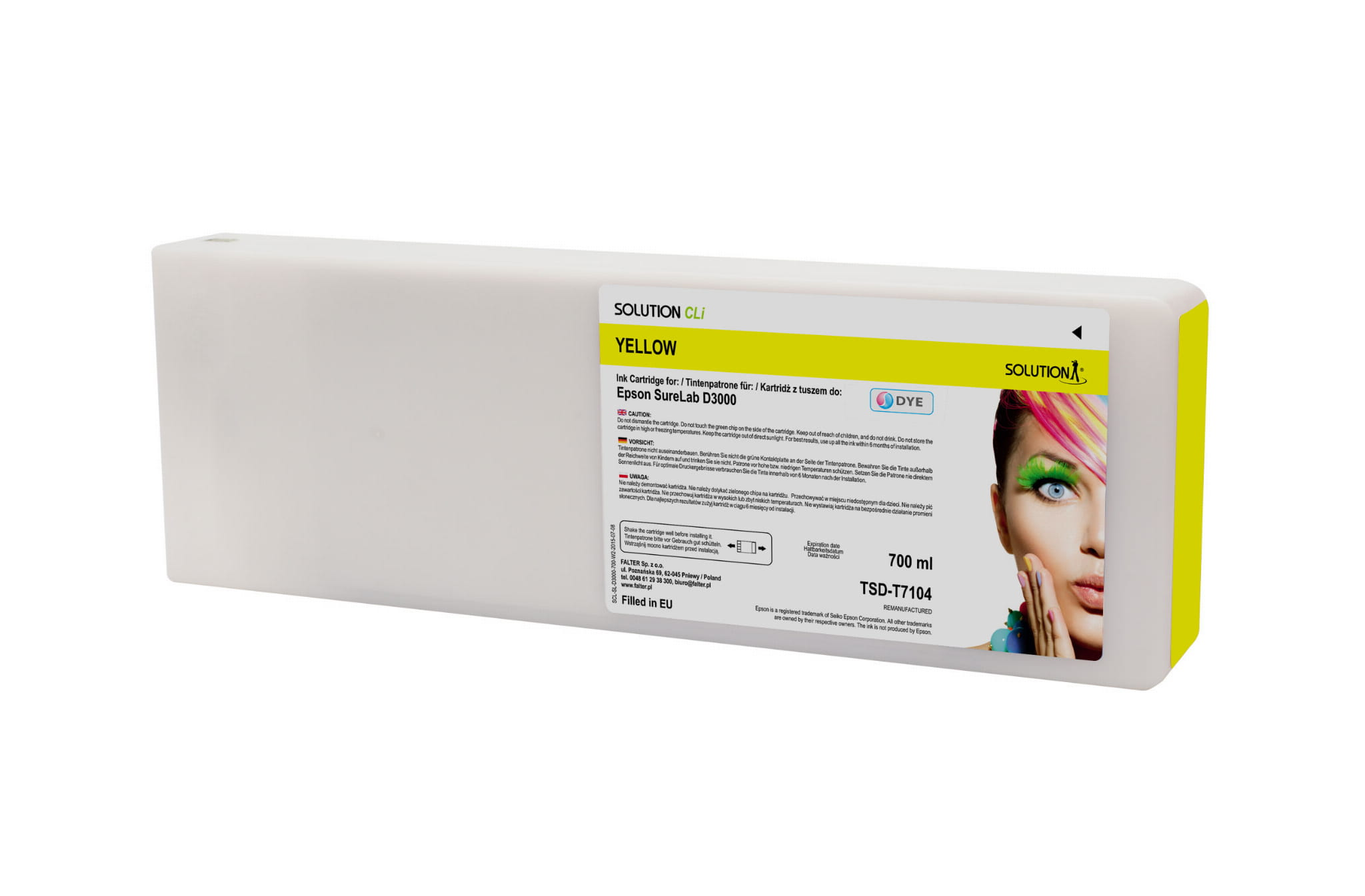 SOLUTION CLi INK FOR EPSON SURE LAB D3000 YELLOW 700 ML