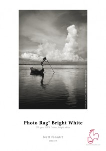 Papier fotograficzny Hahnemühle FineArt Photo Rag® Bright White (310 gsm) Ultra White