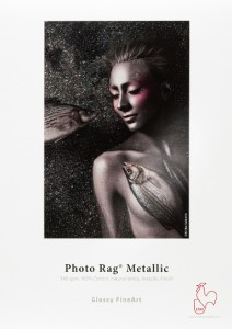 Photographic paper Hahnemühle FineArt Photo Rag® Metallic (340 gsm) Natural White