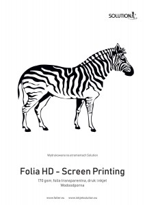Solution HD Film – Screen Printing (170 gsm) transparent glossy film