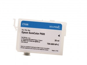 Empty refillable cartridge for Epson Stylus Photo SC-P600 cyan (26ml)