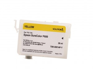 Empty refillable cartridge for Epson Stylus Photo SC-P600 yellow  (26ml)